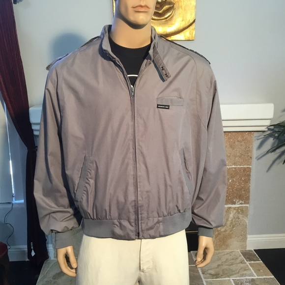 Members Only Jackets Coats Vintage 80s Jacket Mens Sz Xxl Gray